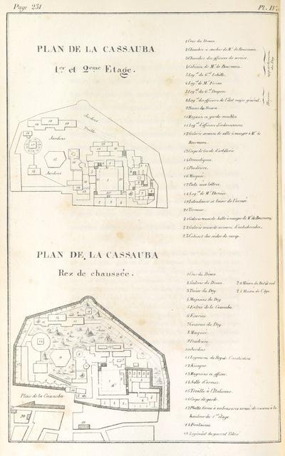 """map from """"Anecdotes pour servir à l'histoire de la conquête d'Alger en 1830 ... Seconde édition ... augmentée, etc"""""""