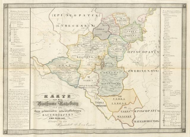 """map from """"Die Stiftslander des ehemaligen Bisthums Ratzeburg, topographische und geschichtlich dargestellt ... Mit einer Vorrede des Hofraths ... Norrmann"""""""