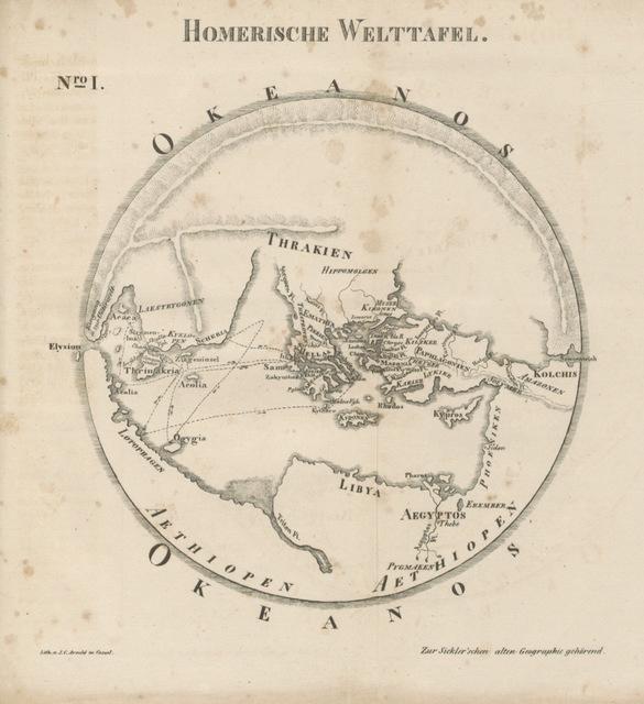"""map from """"Handbuch der alten Geographie für Gymnasien und zum Selbstunterricht ... Zweite ... Ausgabe"""""""