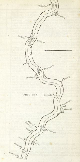 """map from """"The Western Pilot; containing charts of the Ohio River, and of the Mississippi, from the mouth of the Missouri to the Gulf of Mexico, accompanied with directions for navigating the same, and a gazetteer, etc"""""""
