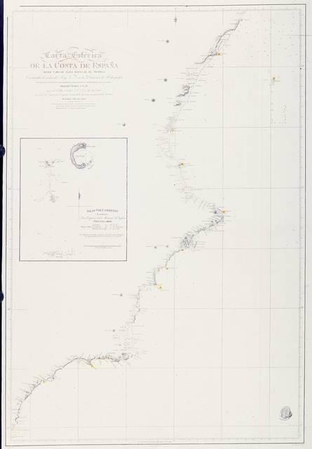 Carta esférica de la costa de España : desde Cabo de Gata hasta el de Oropesa