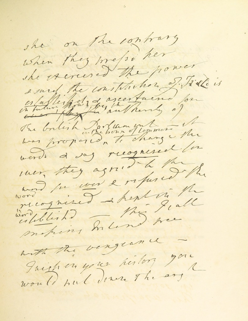 """manuscript from """"[Historic Memoirs of Ireland; comprising secret records of the National Convention, the Rebellion, and the Union; with delineations of the principal characters connected with these translations, etc. [With portraits and facsimiles.]]"""""""