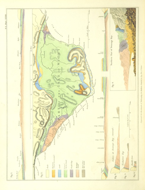 "map from ""Inquiries respecting the Geological relations of the beds between the chalk and the Purbeck Limestone in the South-East of England ... From the ""Annals of Philosophy"" for 1824"""