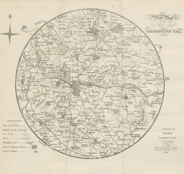 """map from """"[Moncrieff's Guide to Leamington Spa and its vicinity. ... To which is added a complete directory. Fifth edition ... corrected, etc.]"""""""