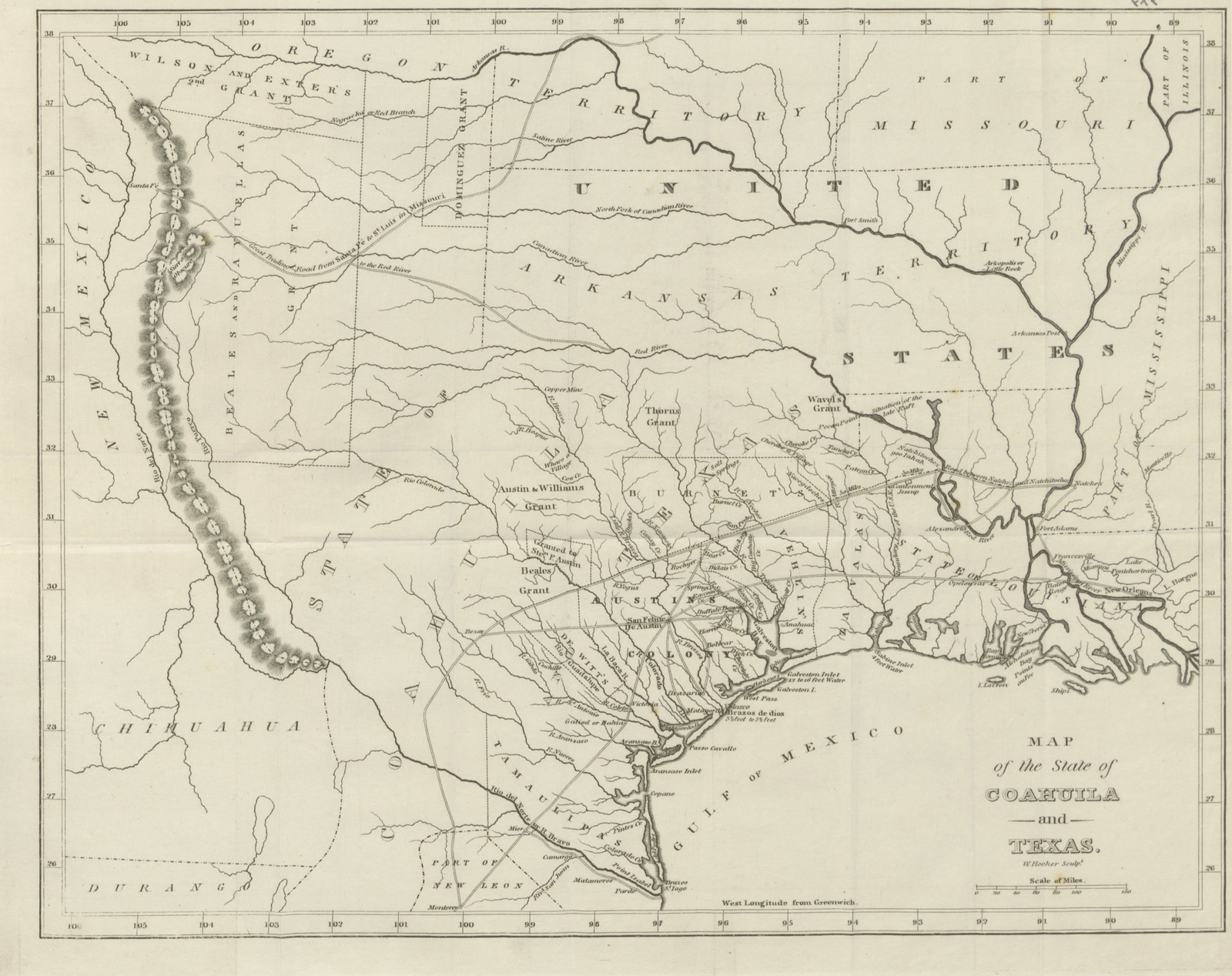 Geographical Map Of Texas.Map From Texas Observations Historical Geographical And