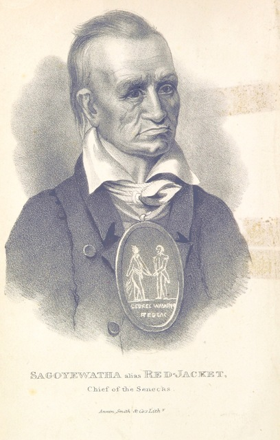 """portrait from """"The Book of the Indians of North America, comprising details in the lives of about five hundred chiefs and others the most distinguished among them, etc"""""""