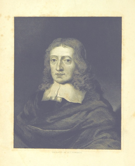 """portrait from """"The Prose Works of John Milton; with an introductory review by R. Fletcher"""""""