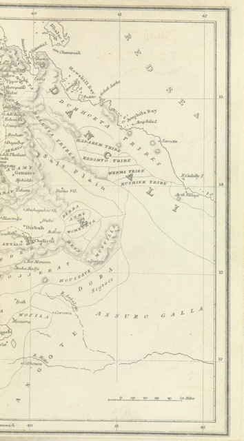 """map from """"Journal of a three years' residence in Abyssinia, in furtherance of the objects of the Church Missionary Society ... To which is prefixed, A brief history of the Church of Abyssinia, by ... Professor Lee, etc"""""""
