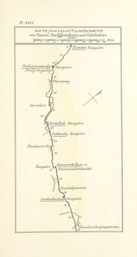 """map from """"Observations on the Neilgherries, including an account of their topography, climate, soil & productions, and of the effects of the climate on the European constitution: ... Edited by W. H. Smoult. [With plates and maps.]"""""""