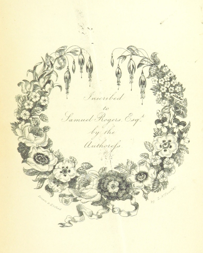 "decoration from ""Poems ... With original illustrations, drawn and etched by the authoress"""