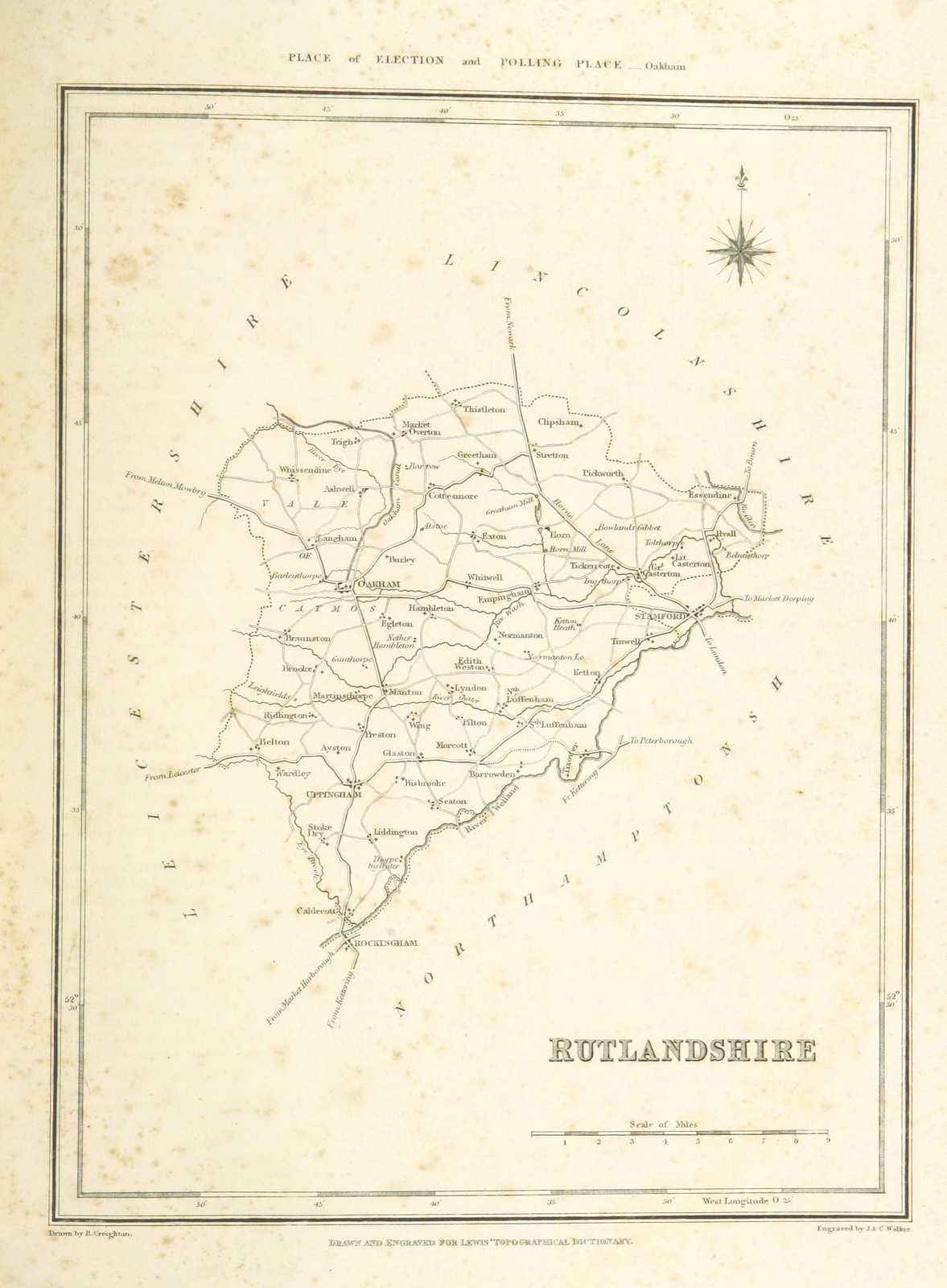 Guernsey England Map.Map From A Topographical Dictionary Of England And The Islands
