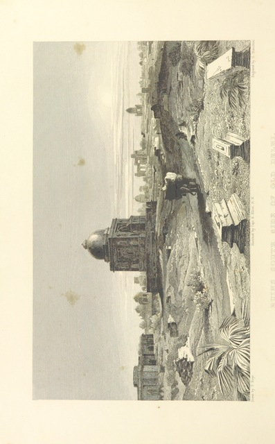 "ruins from ""Views in India, China, and on the Shores of the Red Sea: drawn by Prout, Stanfield, Cattermole, Purser, Cox, Austen, &c. from original sketches by Commander R. Elliott ... With descriptions by Emma Roberts"""