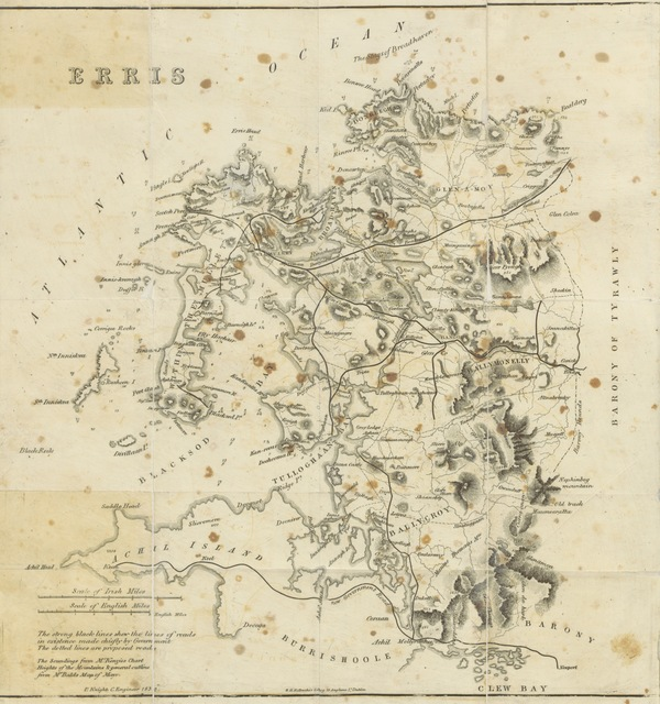 """map from """"Erris, in the """"Irish Highlands,"""" and the """"Atlantic Railway."""" [With Map.]"""""""