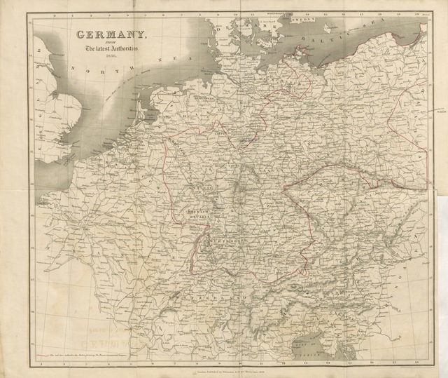 """map from """"Sketches of Germany and the Germans, with a glance at Poland, Hungary and Switzerland, in 1834, 1835, and 1836. By an Englishman resident in Germany [E. Spencer]. Second edition"""""""