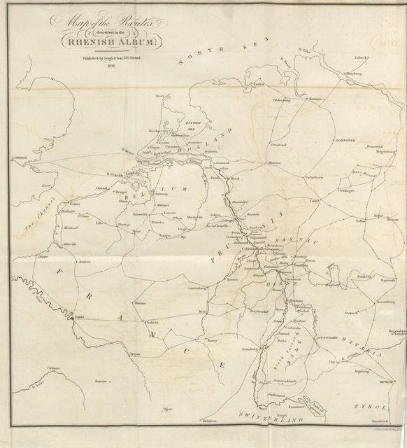 """map from """"The Rhenish Album; or, scraps from the Rhine: the journal of a travelling artist, etc"""""""