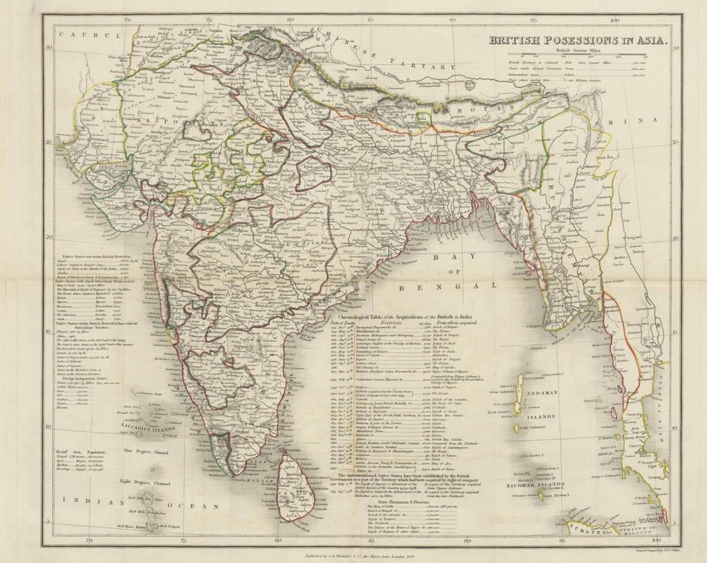 "map from ""Modern India; with illustrations of the resources and capabilities of Hindústan"""
