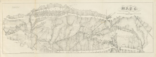 "map from ""Report on the new map of Maryland, 1836. [Containing: 1, Report of the Geologist, J. T. D.; 2, Engineer's report, by J. H. Alexander.]"""