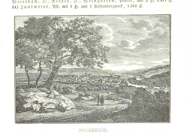 """Baden-Württemberg from """"Baden geographisch und malerisch beschrieben. Mit ... Ansichten"""""""