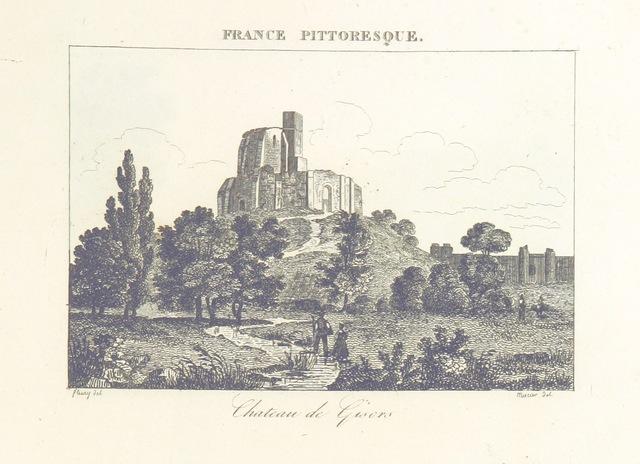 """Gisors from """"France pittoresque, ou description ... des départements et colonies de la France ... pur A. H"""""""