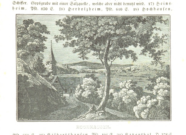 """Hochhausen from """"Baden geographisch und malerisch beschrieben. Mit ... Ansichten"""""""