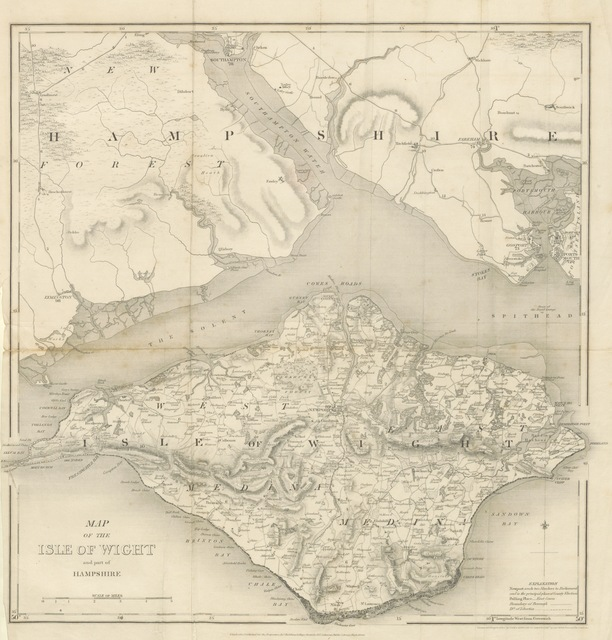 """map from """"Hampshire: its past and present condition and future prospects"""""""