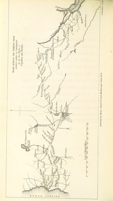 """map from """"South American and the Pacific, comprising a Journey across the Pampas and the Andes, from Buenos Ayres to Valparaiso, Lima and Panama. ... To which are added plans and statements for establishing steam navigation on the Pacific"""""""