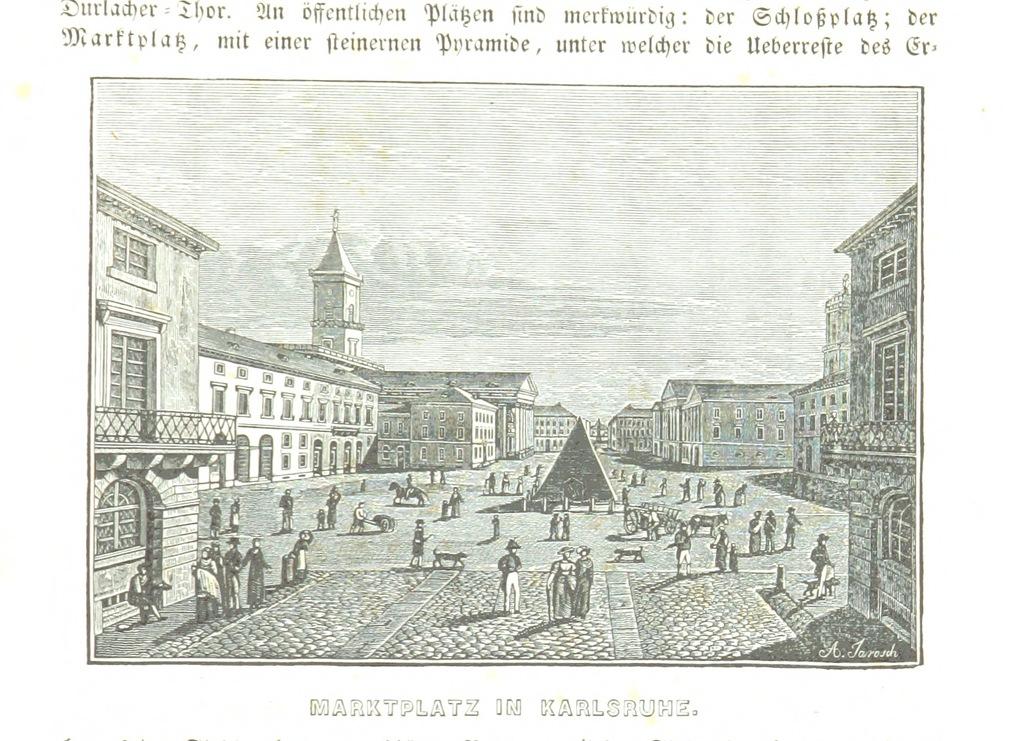 """marketplace from """"Baden geographisch und malerisch beschrieben. Mit ... Ansichten"""""""