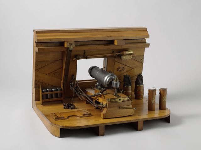 Model of a 30-pounder carronade in a battery Vlissingen