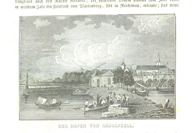 """Radolfzell from """"Baden geographisch und malerisch beschrieben. Mit ... Ansichten"""""""