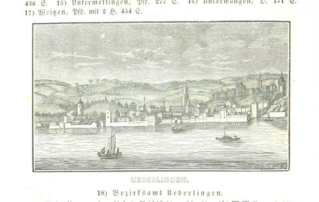 """Überlingen from """"Baden geographisch und malerisch beschrieben. Mit ... Ansichten"""""""