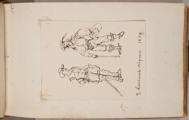 Afbeelding: twee mannen met degen / door J. Roosmale Nepveu