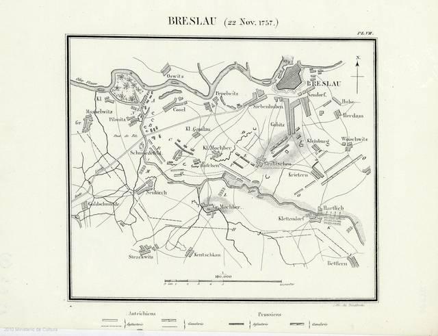 Breslau (22 Nov. 1757) : [mapa]