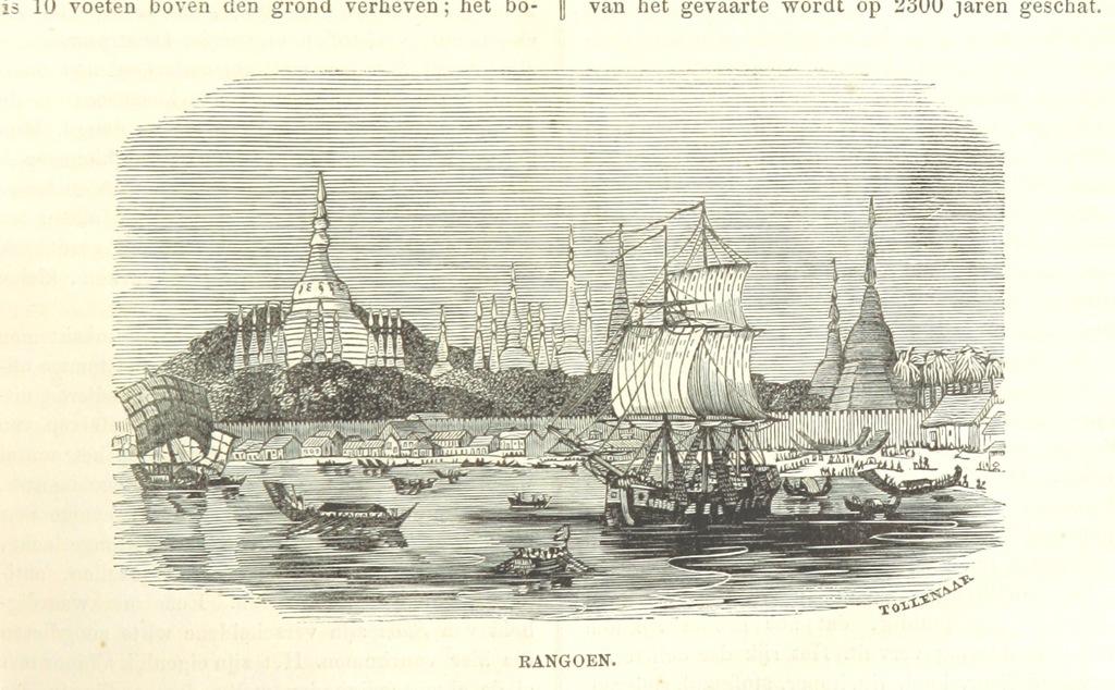 """Burma from """"De Aardbol. Magazijn van hedendaagsche land- en volkenkunde ... Met platen en kaarten. [Deel 4-9 by P. H. W.]"""""""