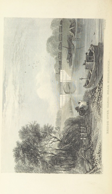 """canal from """"The Book of The Grand Junction Railway, being a history and description of the line from Birmingham to Liverpool and Manchester ... By T. Roscoe, assisted by the resident engineers of the line"""""""