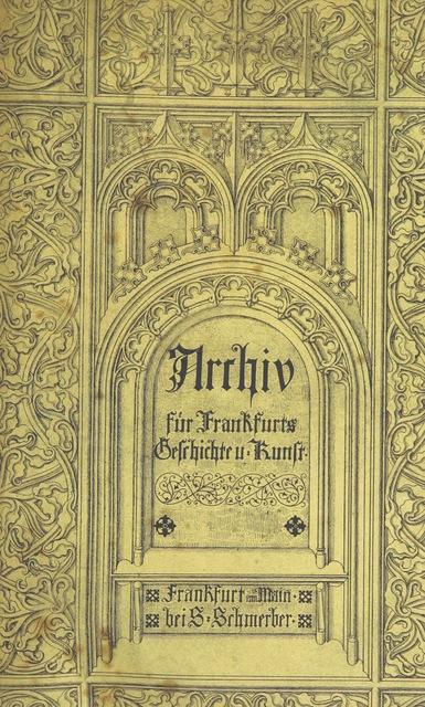 """cover from """"Frankfurter Annalen, vom Jahr 793 bis zum Jahr 1300. Aus Quellenschriftstellern und Urkunden. [By J. G. C. Thomas.]"""""""