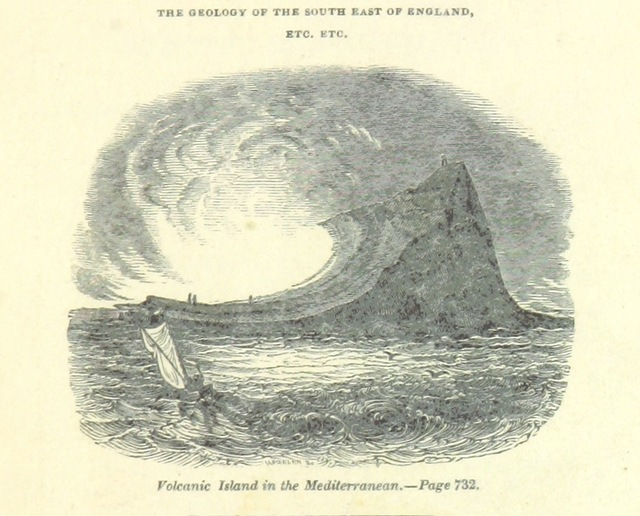 """engraving from """"[The Wonders of Geology; or, a familiar exposition of geological phenomena: being the substance of a course of lectures ... by G. M. ... from notes taken by G. F. Richardson.]"""""""