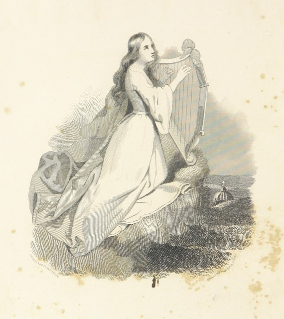 """harpist from """"[Souvenirs d'Italie, par un Catholique.]"""""""