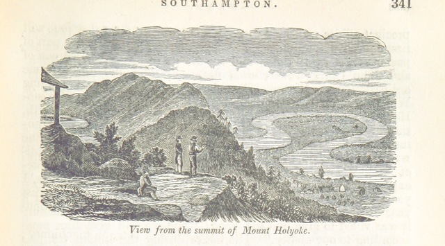 "Holyoke Range from ""Historical Collections ... relating to the history and antiquities of every town in Massachusetts, with geographical descriptions. [With illustrations.]"""