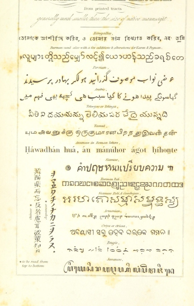 """manuscript from """"Travels in South-Eastern Asia, embracing Hindustan, Malaya, Siam, and China. With notices of numerous missionary stations, and a full account of the Burman Empire with dissertation, tables, etc"""""""