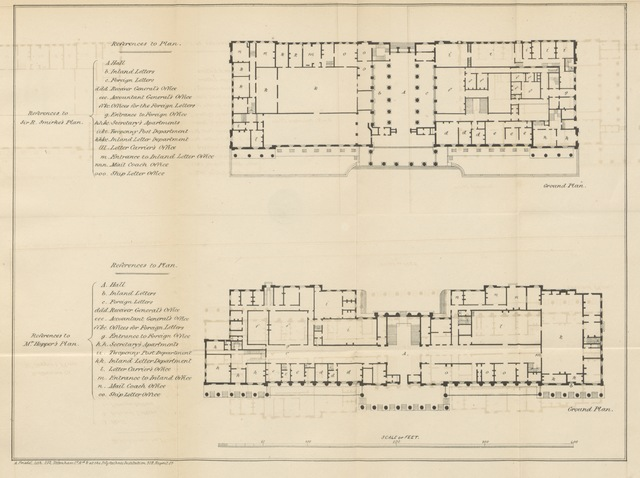 "map from ""A Letter to Lord Viscount Melbourne, on the rebuilding of the Royal Exchange. [With plates.]"""