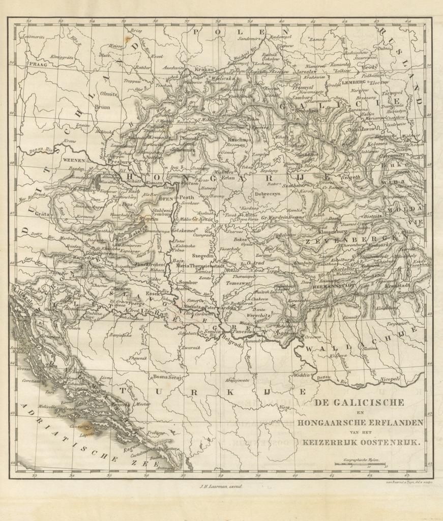 """map from """"De Aardbol. Magazijn van hedendaagsche land- en volkenkunde ... Met platen en kaarten. [Deel 4-9 by P. H. W.]"""""""