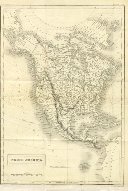 """map from """"Emigration Fields. North America, The Cape, Australia, and New Zealand; describing these countries, and giving a comparative view of the advantages they present to British Settlers"""""""