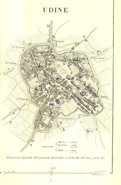 """map from """"Guida d'Udine in ciò che risguarda le tre belle arti sorelle. ... Edizione seconda, cui si aggiunge la Guida di Cividale"""""""