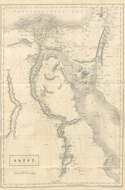 """map from """"Notes of a Wanderer, in search of Health, through Italy, Egypt, Greece, Turkey, up the Danube, and down the Rhine"""""""