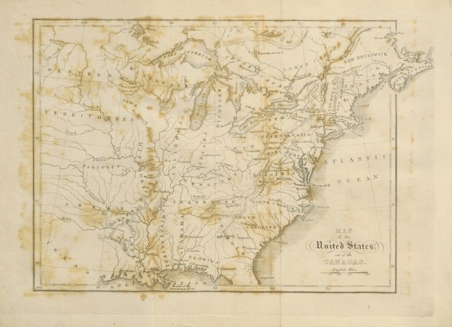 """map from """"Sketch of the Geology of North America, being the substance of a memoir read before the Ashmolean Society, etc"""""""