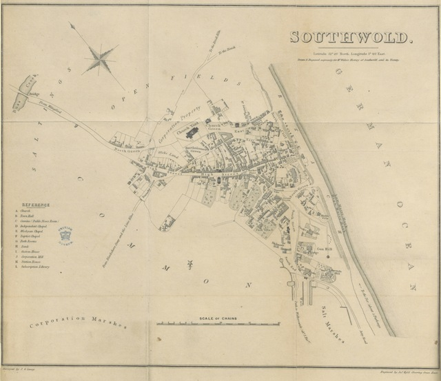 """map from """"Southwold, and its vicinity, ancient and modern"""""""
