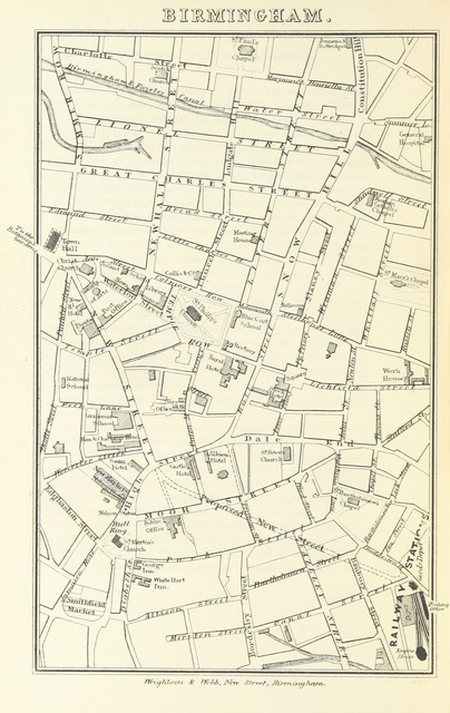 """map from """"The Book of The Grand Junction Railway, being a history and description of the line from Birmingham to Liverpool and Manchester ... By T. Roscoe, assisted by the resident engineers of the line"""""""