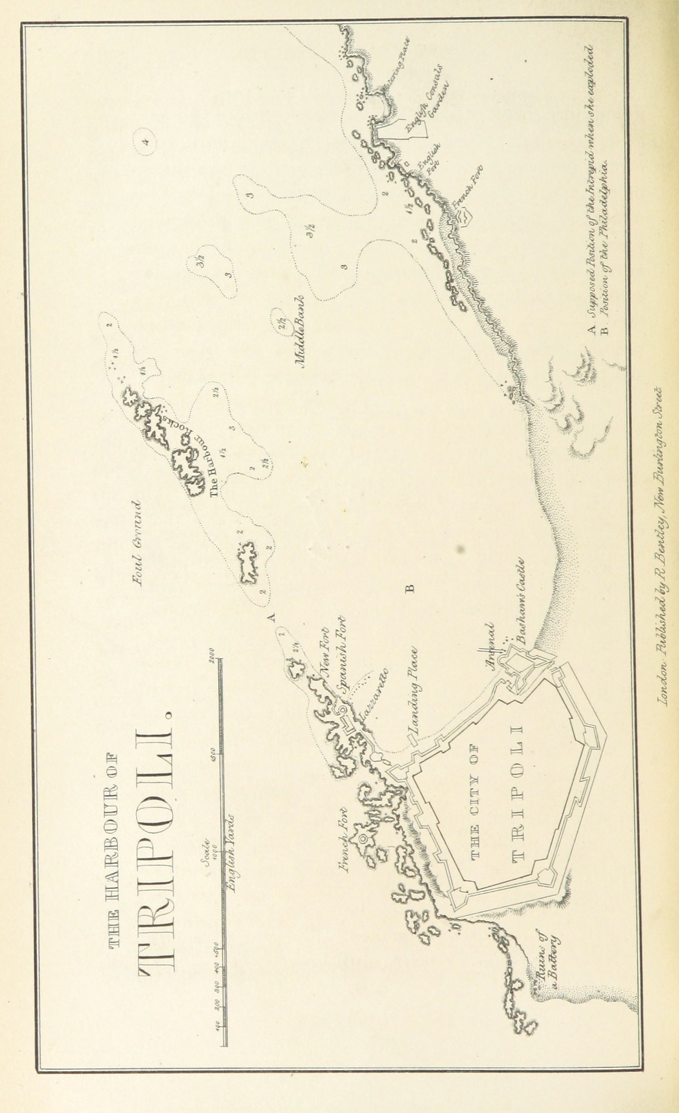 """map from """"The History of the Navy of the United States of America. [With portraits and a map.]"""""""