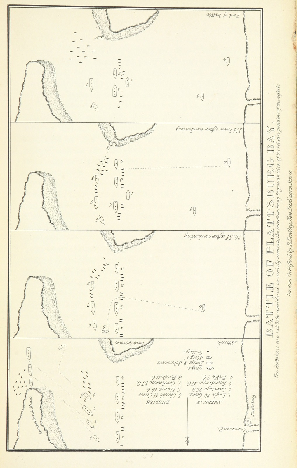 "Map from ""The History of the Navy of the United States of America. [With portraits and a map.]"""