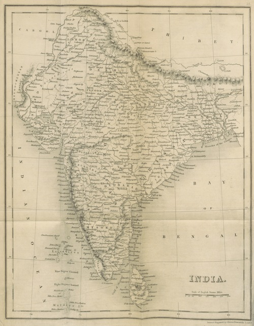 """map from """"Thirty Years in India: or, a Soldier's reminiscences of Native and European life in the Presidencies, from 1808 to 1838. [With plates.]"""""""